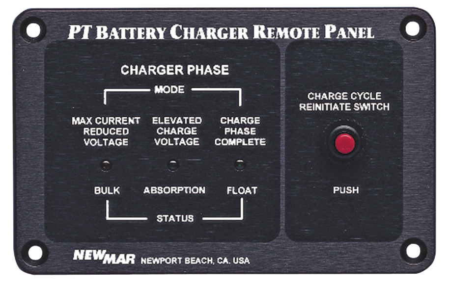 Remote Indicator Panel for Phase Three Series Mobile Mount Battery Chargers, model RP, image by Newmar Powering the Network