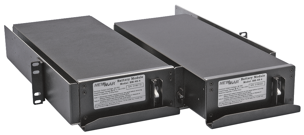 Rack Mount Battery Module and Shelf for Battery Back-Up for Telecom, Public Safety, Industrial Applications, 48V DC, 4 amp hour image by Newmar Powering the Network