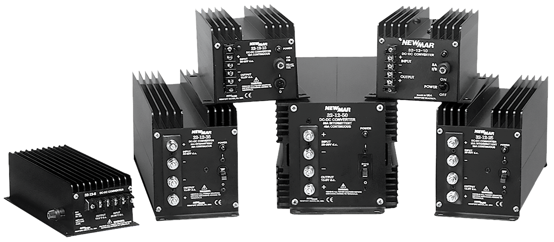Table Top, Bench Mount and Mobile Mount DC-DC Converters, 24VDC to 12VDC, 48VDC to 12VDC and 48VDC to 24VDC, 3 amps to 50 amps by Newmar Powering the Network