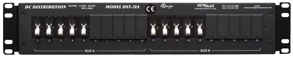 Rack Mount Dc Distribution Panel 12v Dc 24v Dc 48v