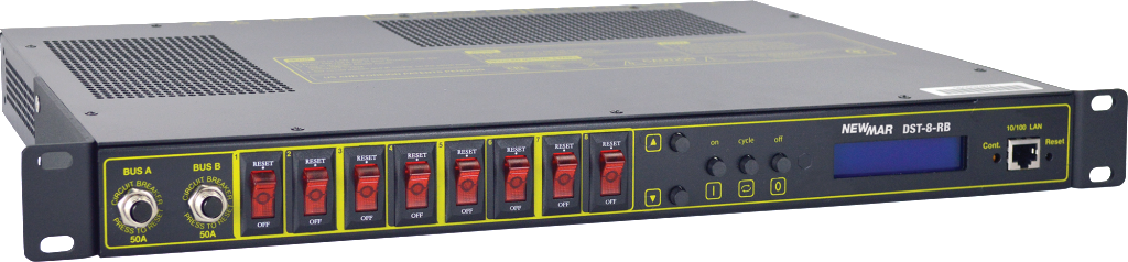 Circuit Breaker Distribution Panel with Control, -48V DC, model DST-8-RB, by Newmar Powering the Network