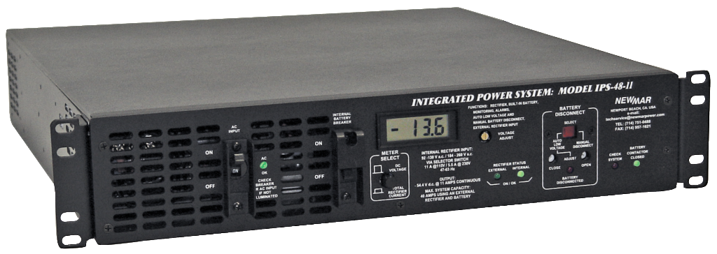 Rack Mount Integrated DC Power System Series, IPS Series, 12V DC, 24V DC