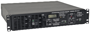 Powering the Network with the Integrated Power System Series DC power supplies, 12V, 24V and 48V, 11- 40 amps with internal battery back-up by Newmar
