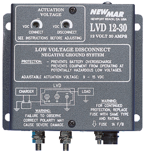 Wall and Mobile Mount Low Voltage Disconnect, 12V DC, 24V DC and 48V DC, 30 Amps to 75 Amps by Newmar Powering the Network