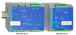 Newmar Powering the Network DIN Rail Mounted DC UPS DIN-UPS-24-10 and DIN-UPS-48-10