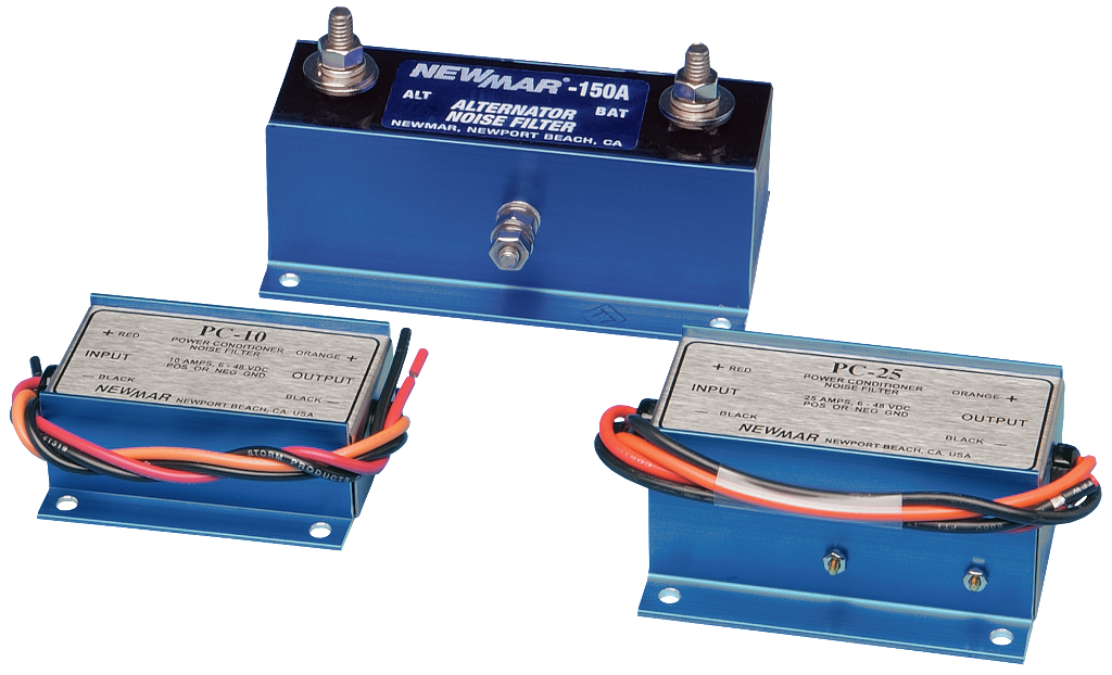 Noise Filters for mobile applications in specialty vehicles, emergency vehicles, and industrial applications, 12V DC, 10 Amps to 150 amps power rating image by Newmar Powering the Network