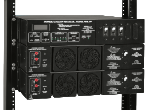Rack Mount Power Module Series, 12V DC, 24V DC 48V DC, 10 Amps to 80 Amps with Power Function Manager, model PFM-500, by Newmar Powering the Network image