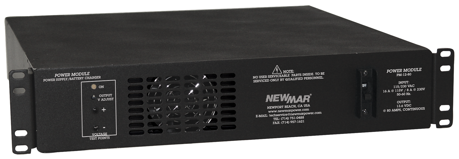 Power Modules, Rackmount DC Power System, 12V, 24V, and 48V DC, 560 - 2000 Watts, 10-80 Amps by Newmar Powering the Network