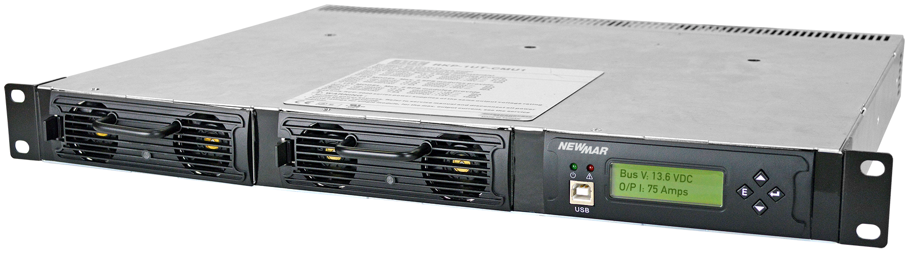 12V DC | 95 Amp to 200 Amp | 1,140 Watts - 2,400 Watts | Scout Rackmount DC  Power System | N+1 Redundant Rectifier Shelf | Newmar Powering the Network