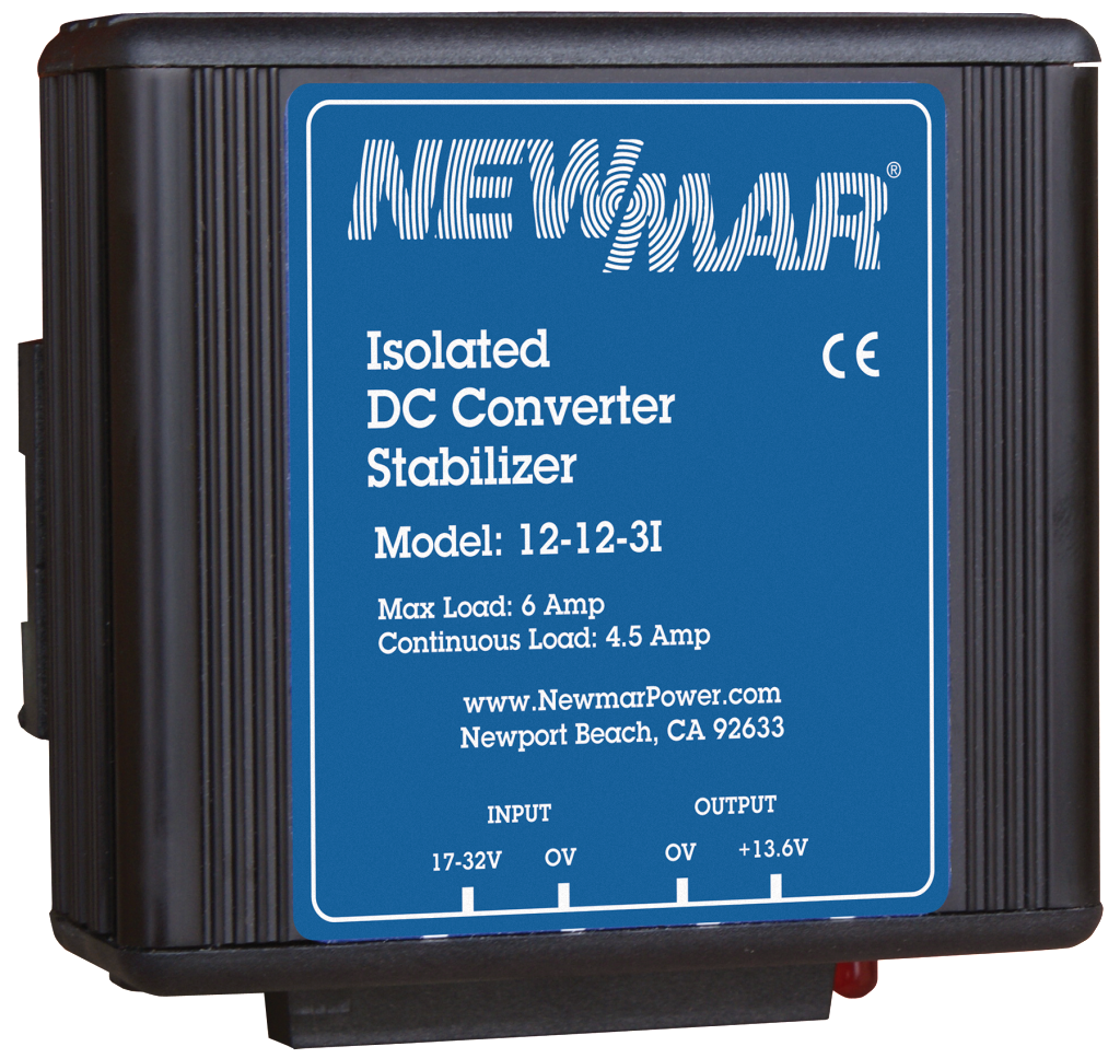 Mobile Mount DC Power Stabilizers DC-DC Converters, 12V DC to 12V DC and 24V DC to 24V DC, 3 amps to 35 amps by Newmar Powering the Network