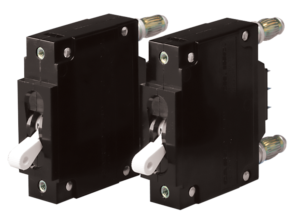 Circuit Breaker for Rackmount DC Distribution Panels, 12V, 24V, and 48V DC, models DST-10 and DST-20A,by Newmar Powering the Network