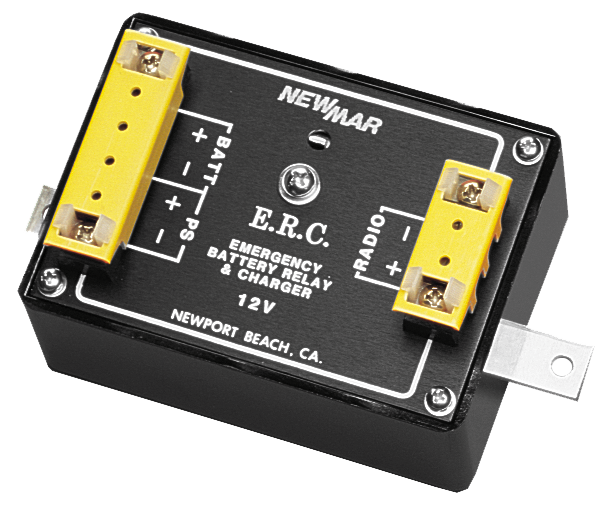 Emergency Relay/Charger Series Allows for Emergency Tie-in to Battery for Radio that Operates on Power Supply, 12V DC and 24V DC, 15 amps to 35 amps by Newmar Powering the Network