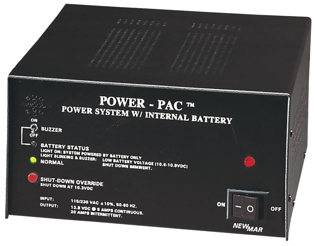 Table Top Mount and Bench Mount, 12V DC, 5 amps with 7 Amp Hours (AH) and 14 Amp Hour (AH) Battery Back-up, Power-Pac Series by Newmar Powering the Network