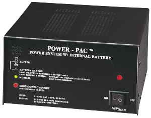 Power-Pac Power Supply Series with battery back-up by Newmar Powering the Network, 12V DC, 5 amps output, 7 amp-hour to 14 amp-hour battery back-up