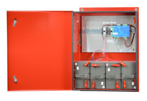 DC Power Enclosures with DIN Rail DC UPS for NFPA 1221 by Newmar Powering the Network PE-48V-480W-55AH