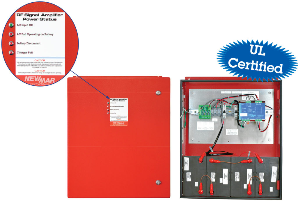 PE Series Power Enclosures, 12V DC, 24V DC, 48V DC, NFPA 1221 Compliant, UL Listed Battery Back-up For Public Safety DAS by Newmar Powering the Network