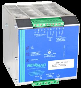 Newmar DIN Rail Mounted DC UPS, 12V, 24V and 48V, 5 - 35 Amps