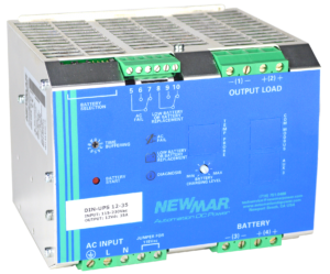DIN-UPS-12-35 DIN Rail Mounted DC UPS Newmar Powering the Network