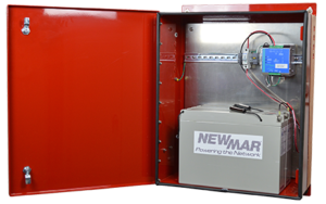 DIN Rail DC UPS for battery back-up in a wall or pole mounted enclosure PE Series Newmar Powering the Network