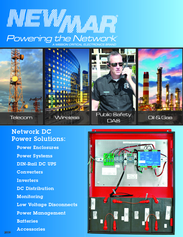 Newmar Powering the Network Rackmount and Public Safety DC Power Solutions Catalog 2019