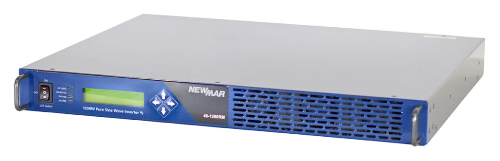 Rackmount Inverter, 48V DC, 1200 Watts, model 48-1200RM by Newmar Powering the Network